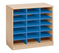 Mueble combi 18 casillas azul 0 outlet 0