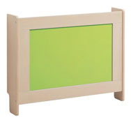 Radiator covers 100 cm long beech side colored methacrylate fontral