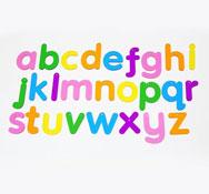 26 letras translúcidas 26 piezas