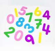 Números translúcidas arco iris 12 piezas