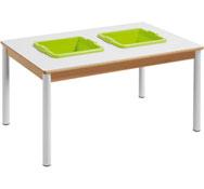 Mesa citrus rectangular 120 x 80 con dos cubetas cuadradas t0