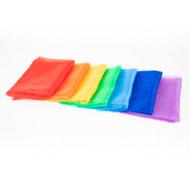 Tela de organza arco iris. lote 7
