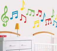 Decoración happy notas