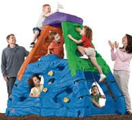 Montaña de escalada colores