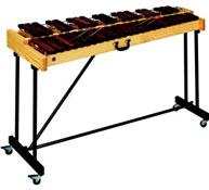Soporte regulable en altura y plegable para xilófono 2 octavas y 1/2 unidad