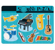 Puzzle de instrumentos musicales sonoro