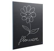 Black slate panel 100 x 100 pvc edges Black