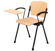 Silla oslo con brazos asiento y respaldo de haya con pala escribiente derecha