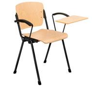 Silla oslo con brazos asiento y respaldo de haya con pala escribiente izquierda