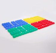 Construcción ladrillos flexibles y translucidos el set de 72 piezas
