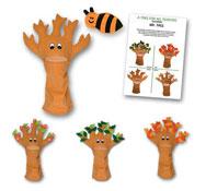 Marioneta el sr. árbol - las 4 estaciones el conjunto