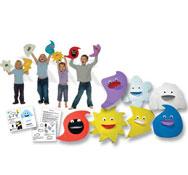 Marionetas el Tiempo el conjunto de 7 títeres
