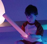 Bastón sensorial con luz la unidad