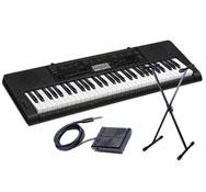 Teclado de acompañamiento con altavoces  + soporte de teclado +pedal de sostenuto p50