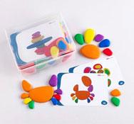 Construcción piedras colorines set de 36 piezas
