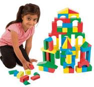 Construcción de madera los colores set de 100 piezas