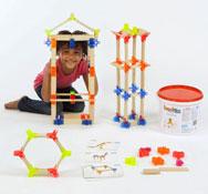 Contrucción de madera plástico brackitz set de 48 piezas