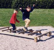 Escalera horizontal salto de pulga