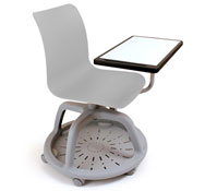 Duo easy desk with tray