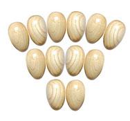 Huevos sonoros de madera 6 parejas 6 pares