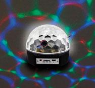 Bola proyectora efectos de luz y música la unidad