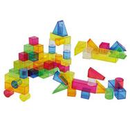 Bloques de color traslucidos 50 piezas