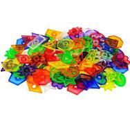 Botones las formas de colores traslúcidos 144 piezas