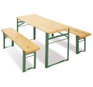 Mesa plegable de madera y metal
