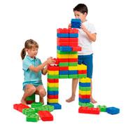 Carro con construcción ladrillos 96 piezas 96