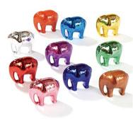 Elefantes metálicos numéricos 10