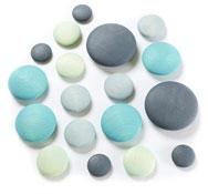 Piedras de madera colores marinos 18 piezas