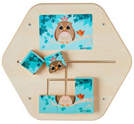 Panel de juego mini puzzle el bosque