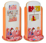 Totem de juego doble cara puzle Niños - conecta 4
