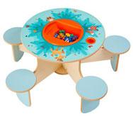 Mesa de juego penta el bosque con cubeta y juego de construcción