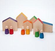 Conjunto las casas y 6 Nins® 12 piezas