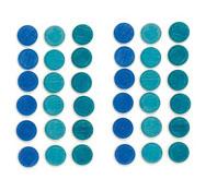 Mandala monedas azules 36 piezas