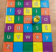 Alfombrilla alfabeto para bee-bot® y blue-bot