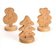 Árboles de madera para juego simbólico Pack 3 unidades