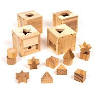 Cajas para bebés para introducir objetos LOTE DE 4