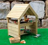 Caseta de cocina para juego libre en el exterior