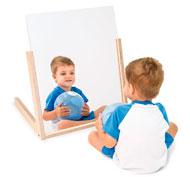 Espejo movil con soporte de madera 60 x 50
