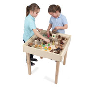Set table beech square europa 60 x 60 t3 with perimeter frame