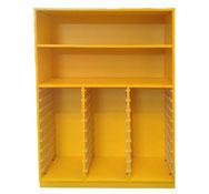 Armario citrus amarillo para 27 cubetas y 2 estante. (Apto para cubetas DELTA)