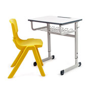Conjunto pupitre escolar regulable first y silla escolar funny t-5