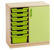 Mueble gamma 12 con cubetas y puerta  (comp.catalogo)