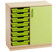 Mueble gamma 12 hasta 8 cubetas y puerta