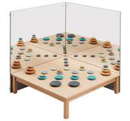Conjunto de mesa y espejos las perspectivas el conjunto