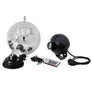 Kit bola de espejos ø 30cm con motor electrico y foco