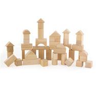 Construcción natural pequeños blocks 50 piezas