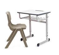 Conjunto Pupitre escolar regulable First y silla Funny T-6